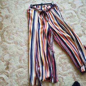 Fun summer wide leg cropped pants